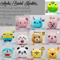 Bantal karakter doraemon panda pooh hello kitty keroppi mikey minnie