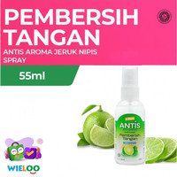 Antis Spray Hand Sanitizer Pembersih Tangan Jeruk Nipis (Botol 55 ml)