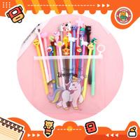 10pcs Pulpen Set Karakter Campur Free tempat pensil Cactus pvc BD0009