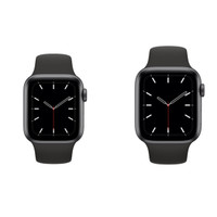 APPLE WATCH SERIES 5 GRAY ALNIUM CASE 44MM SPORT BAND BLACK MWVF2 TAM