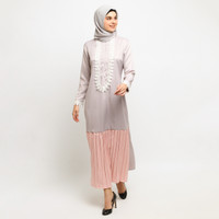 FASHION GAMIS WANITA MUSLIMAH LE NAJWA LAISHA DRESS - Violet Pink