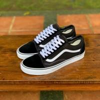 Sepatu Pria Vans Old Skool Classic Black White Original BNIB