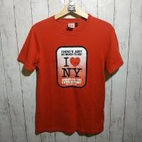 I Love NY Red Tshirt Tees Kaos Original Zara H&M Bershka Dickies Nike