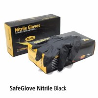 BEST SELLER New Safeglove Nitrile Black OneMed box 100pcs glove