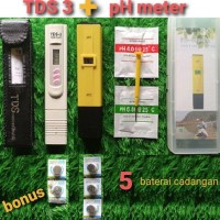 BEST SELLER Ph meter dan TDS 3 meter paket untuk hidroponik, aquarium,