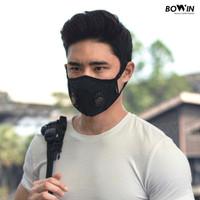 Bowin Masker N99 CV (Masker Kesehatan / Masker Motor / Masker Polusi) - Solid Black