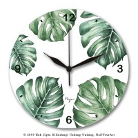 Jam Dinding MONSTERA - NYA Wall Clock - Uk.30X30 CM - Sweep Movement