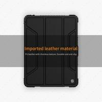 IPAD PRO 9.7 inch 2018 Nillkin Bumper Case Leather Flip Cover Original - Hitam
