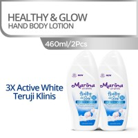 Twin Pack Marina Hand Body Lotion UV White 460ml - Healthy & Glow [2pc