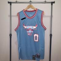Jersey Basket Swingman NBA Chicago Bulls Coby White blue biru city
