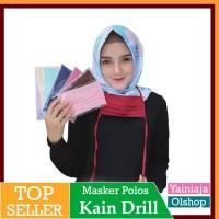 Masker kain hijab muslimah tali sambung