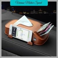 kotak tissue mobil Multifungsi 3 in 1 holder hp phone kartu e toll car