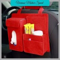 HW-20 Car Seat Organizer Belakang Jok mini / Tas Mobil Multifungsi VMS