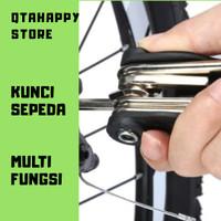 Kunci Sepeda 16 Tool Obeng Kunci Perkakas Lipat Multifungsi Gowes