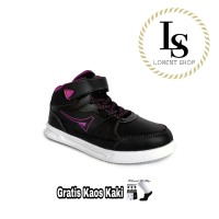 Sepatu Anak Sneakers Ardiles MAJIME / Boots Sekolah Perempuan - 31, Hitam-Ungu