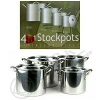 Supra Stock Pot 4 in 1 | Panci Set Supra Stainless Steel 4 in 1