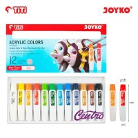 TiTi Acrylic Color Paint Cat Akrilik AC-12ML-12 Warna Colors ORIGINAL