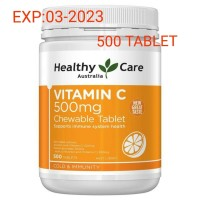 HEALTHY CARE VITAMIN C 500MG CHEWABLE 500 TABLET PRODUK ASLI AUSTRALIA