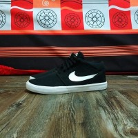 Sepatu Nike SB Portmore Mid Black White Original