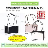 Korea Retro Flower Bag (1424A), aksesoris toko bunga, kotak bunga