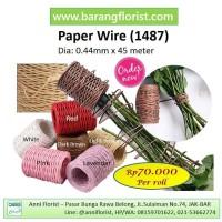 Paper Wire (1487), Aksesoris toko bunga, Kawat bunga, kawat kertas