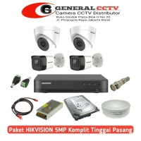 Paket Cctv Hikvision 5 MP 4 Camera Paket Komplit