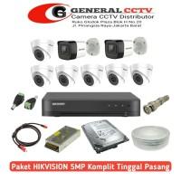 Paket Cctv Hikvision 5 MP 8 Camera Paket Komplit