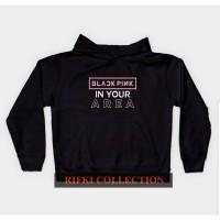 hoodie sweater anak black pink in your area jaket anak