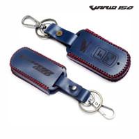 sarung case kulit asli remot keyless kunci motor honda vario 150|BIRU - Biru