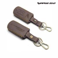 sarung case kulit sapiremot keyless kunci motor honda vario 150 - Cokelat