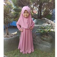 HAURA BUSANA Baju Gamis Anak Perempuan Syari PINK