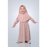 HAURA BUSANA Baju gamis Anak perempuan Syari Mocca