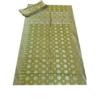 Kain Songket Palembang ATBM Kuning Gold