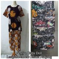 Setelan Baby Doll Size Standar Lengan Pendek Celana Panjang