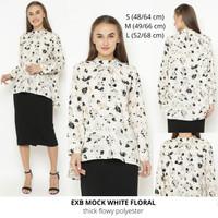 Baju Tunik Muslim Wanita Murah Express Mock White Floral
