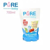 Pure baby liquid cleanser / pencuci botol 700 ml
