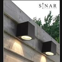 Lampu dinding minimalis kotak outdoor 21074/1