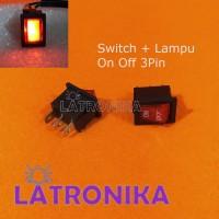Switch Lampu Saklar Kecil Dengan Lampu Switch Kecil On Off Lampu 3Pin