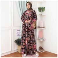 Baju Gamis Wanita Terbaru Gamis Batik Modern Gamis Jersey Jumbo - 7243