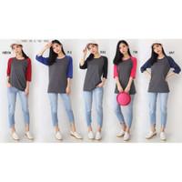 TKOPPA _ Atasan wanita / Kaos wanita / Kaos Raglan / Kaos lengan 3per4