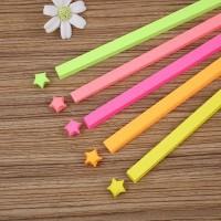 kertas origami bintang fluorescent colour stars diy sdi001
