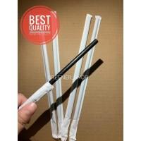500 Pcs Sedotan Kertas Bungkus/Paper Straw 6.0x197MM Hitam