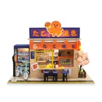 DIY MINIATURE DOLL HOUSE WOODEN / MINIATUR RUMAH BONEKA STAR TAKOYAKI