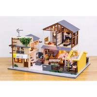 DIY MINIATURE DOLL HOUSE WOODEN / MINIATUR RUMAH BONEKA INITIAL DREAM