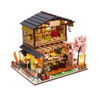 DIY MINIATURE DOLL HOUSE WOODEN / MINIATUR RUMAH BONEKA SUSHI RESTO