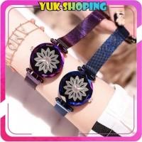 ✧YUKSHOPING✧ JT018 Jam Tangan Wanita Flower Rantai Glitter Magnet