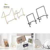 Rak Stand Holder Besi Geometri untuk Piring/Tablet/Majalah/Foto
