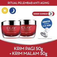 Olay Ritual Pelembab Anti Aging Krim Pagi 50g + Krim Malam 50g