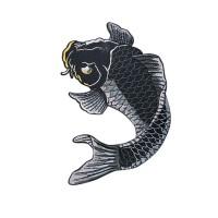 DIY Stiker Dinding dengan Bahan Mudah Dilepas dan Bordir Gambar Ikan