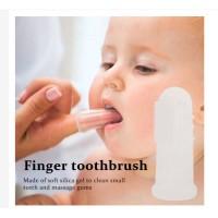 TANPA kotak sikat lidah bayi Finger tooth brush sikat gigi bayi
